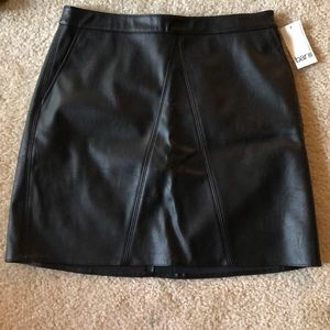 Bar III Faux Leather Skirt
